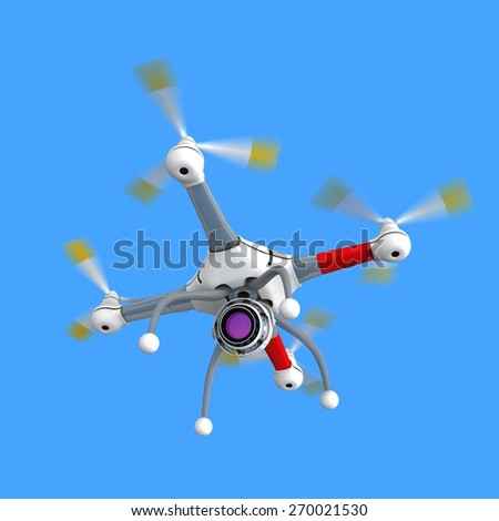 Copter with camera - stock photo