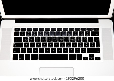 Coputer keybaord with word spelled out spyware - stock photo