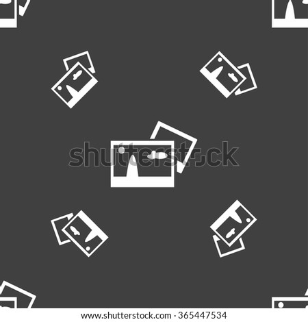 Copy File JPG sign icon. Download image file symbol. Seamless pattern on a gray background. illustration - stock photo
