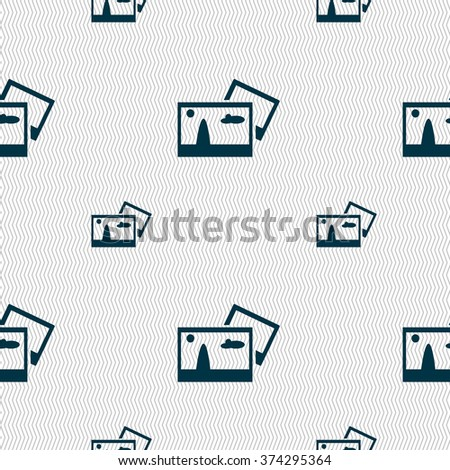 Copy File JPG sign icon. Download image file symbol. Seamless pattern with geometric texture. illustration - stock photo