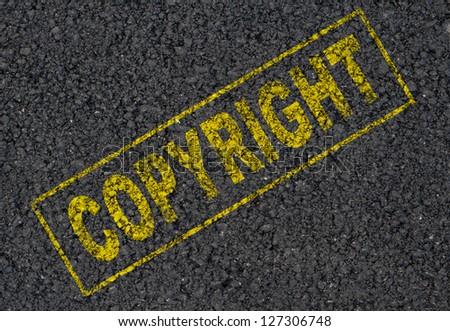 copyright background - stock photo
