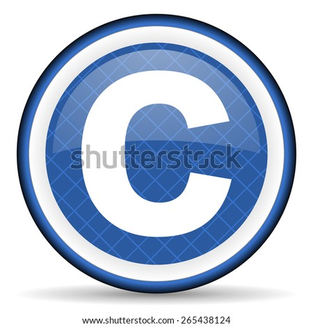 copyright blue icon   - stock photo