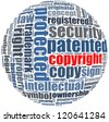 copyright in word collage concept - stock vector
