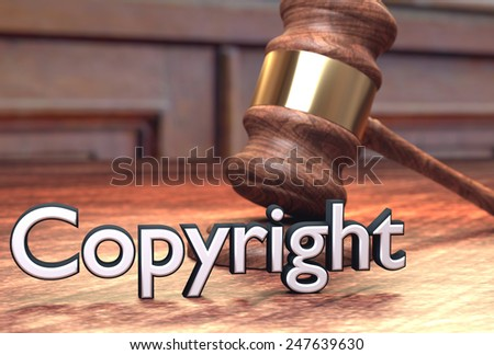 Copyright infringement court case - stock photo