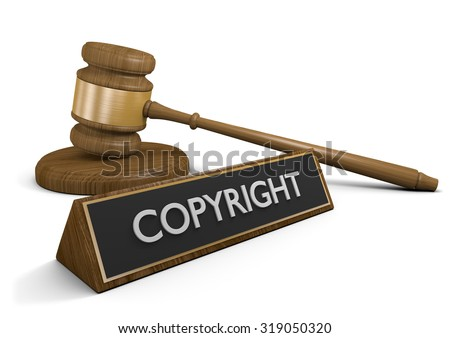 Copyright laws and intellectual property legal protection - stock photo