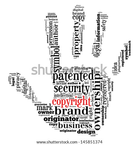 copyright patent in word collage concept - stock photo