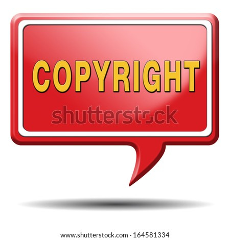 copyright protected by law registered trademark and patent protection - stock photo