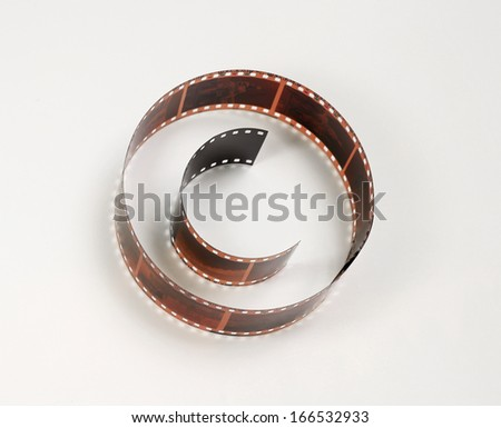 Copyright sign shaped photo film, concept of protect visual art work