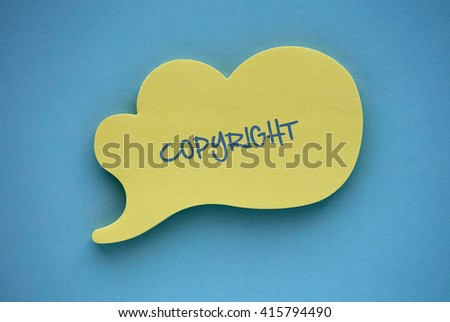 Copyright Trademark Identity Owner Legal Concept - stock photo