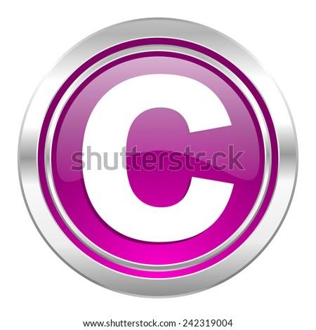 copyright violet icon   - stock photo