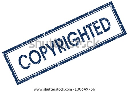 copyrighted stamp