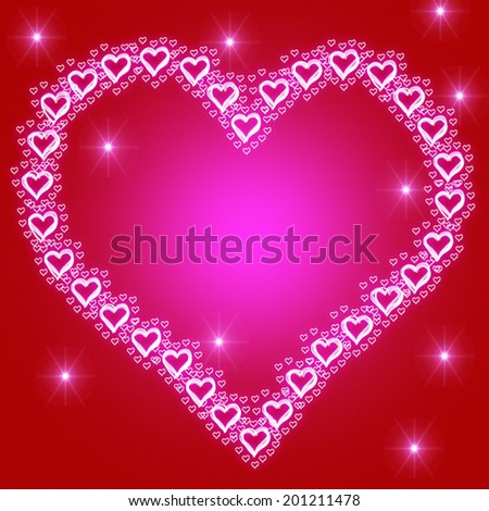Copyspace Background Representing Heart Shape And Lovers - stock photo