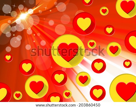 Copyspace Background Representing Heart Shapes And Loving - stock photo