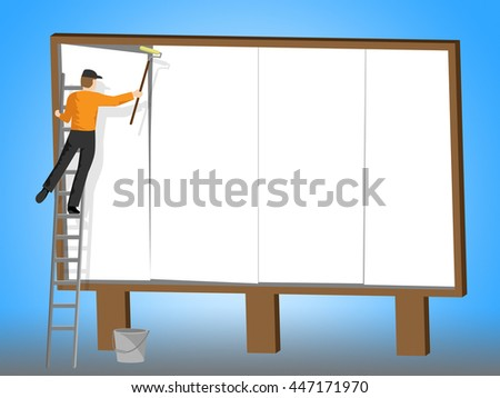Copyspace Billboard Showing Adverts Sign And Banner - stock photo
