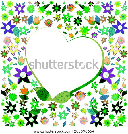 Copyspace Heart Representing Valentines Day And Lovers - stock photo