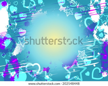 Copyspace Heart Showing Valentine Day And Loving - stock photo