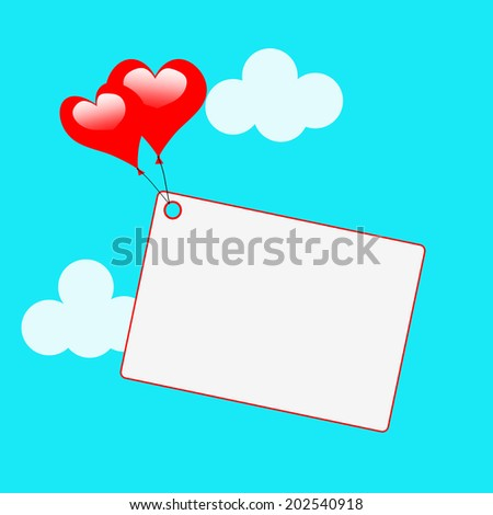 Copyspace Tag Meaning Valentine's Day And Card - stock photo