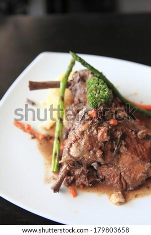 coq au vin - stock photo