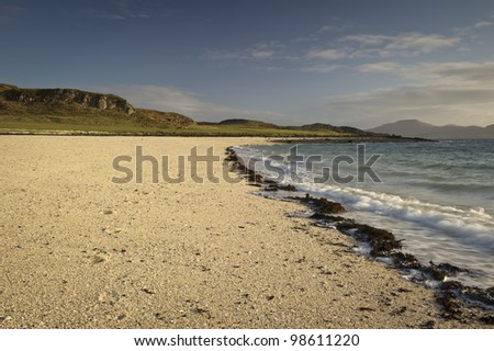 Coral Beach on the Isle of Skye Scotland.