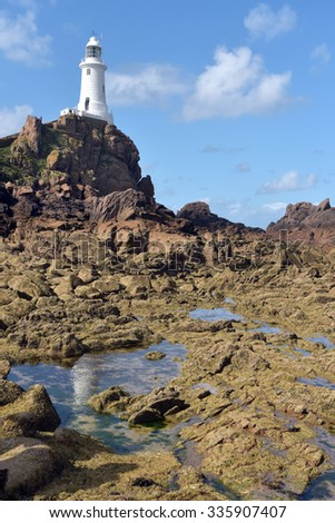 Corbiere lighthouse on Jersey