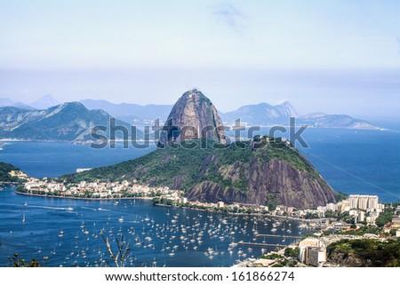 Corcovado Rio de Janeiro Brazil Sugar-Loaf Mountain - stock photo