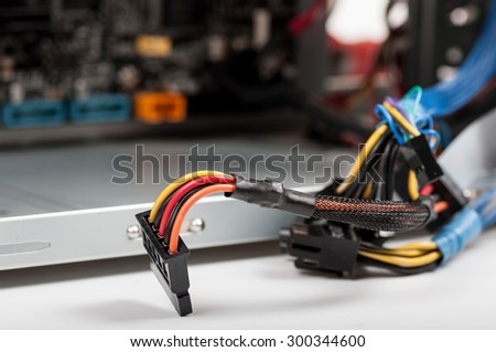 cord for PC background - stock photo