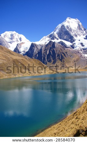 Cordillera Huayhuash, Siula and Yerupaja mountains   Peru, South America
