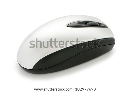 Cordless mouse isolated on the white background