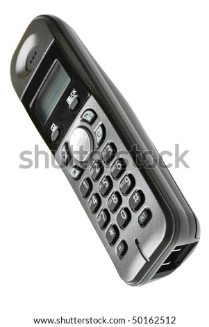 Cordless phone isolated over the white background
