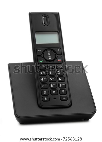 cordless phone phone over the white background