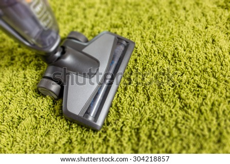 Cordless vacuum cleaner close up photo