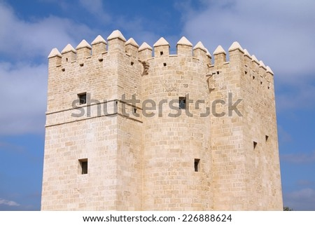 Cordoba, Spain - famous Calahorra tower, old medieval landmark.