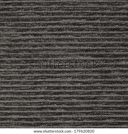 Corduroy black striped cloth texture fragment - stock photo