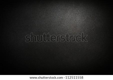 corduroy polipropylen black background - stock photo