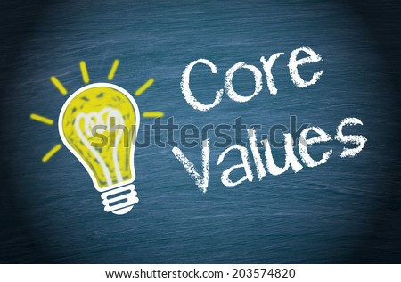 Core Values - stock photo