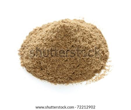 coriander powder , indian spice - stock photo