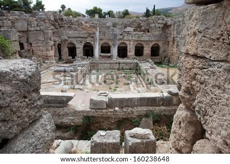 Corinth Ruins - stock photo