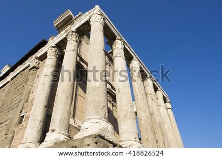 Corinthian columns  - stock photo