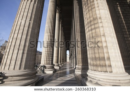 Corinthian columns of the Church of the Madeleine in Paris