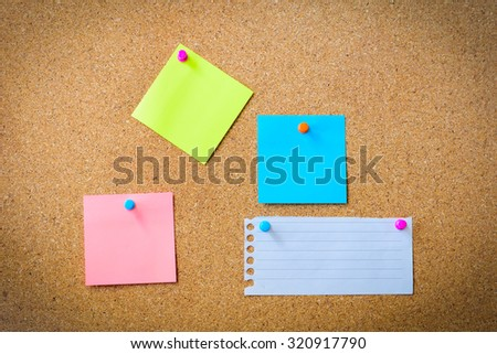 Cork board for background and texture