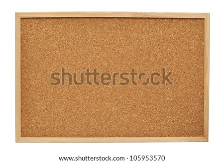 cork board isolated on white background - stock photo