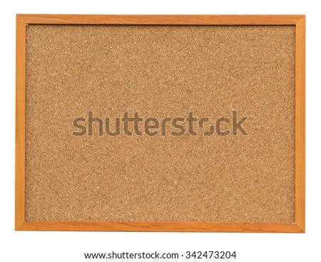 Cork board isolated on white with clipping path. - stock photo