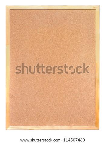 Cork Board on white background. macro shoot - stock photo