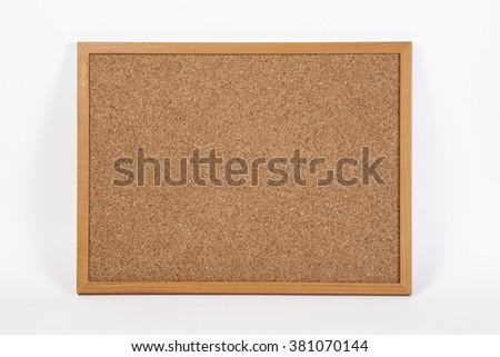 cork board onwhite background - stock photo