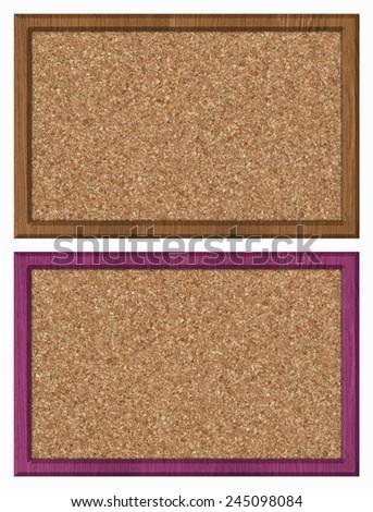 cork bulletin board, set - stock photo