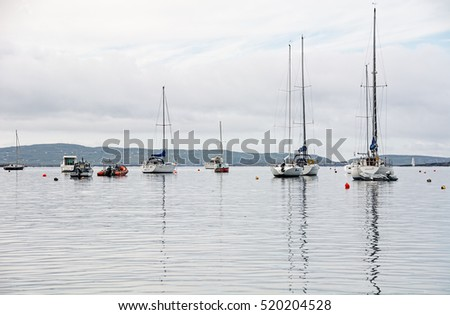 Cork,Ireland - October 16, 2016: Pleasure Craft moored at Schull Co. Cork Ireland