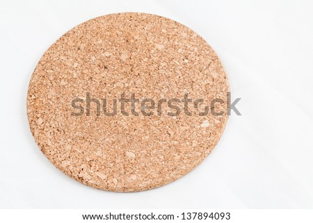 Cork mat isolated on white background