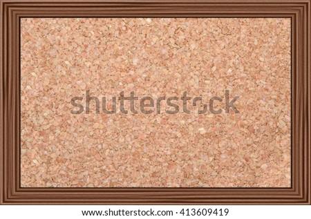 Cork Noticeboard Bulletin Board Wooden Frame Stock Photo (Download ...