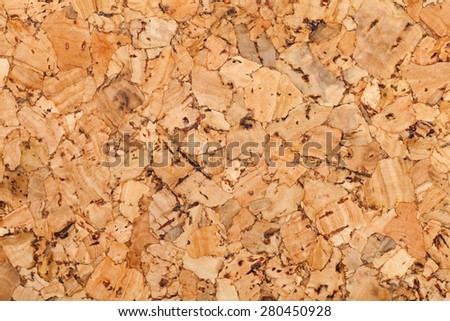 Cork wall or ceiling covering with texture and details - stock photo