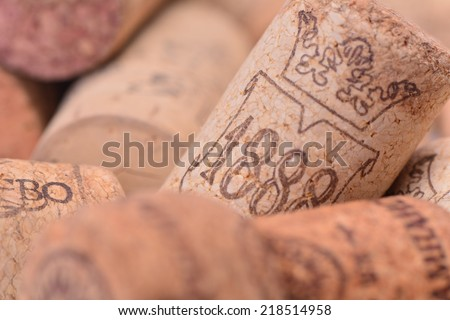 Cork wine - stock photo